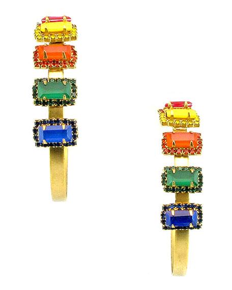 Elizabeth Cole Jalus Hoop Earrings