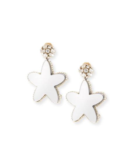 Crystal Star Clip-On Earrings