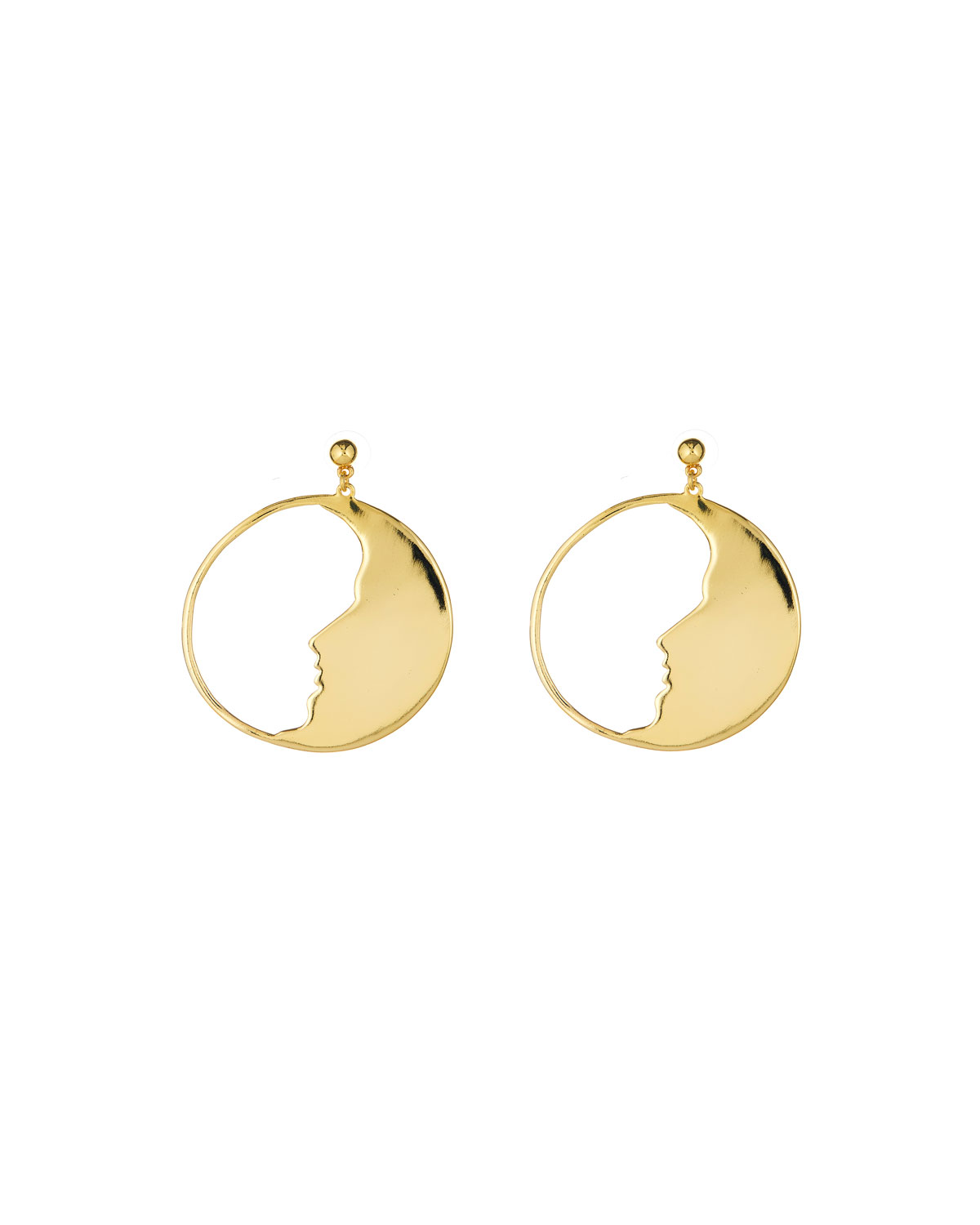 0829fd6b5afc1 Oscar de la Renta Large Moon Hoop Earrings