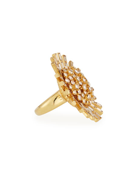 Jeweled Flower Statement Ring