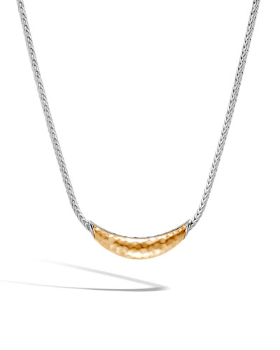 Classic Chain Arch Necklace w/ 18k Gold