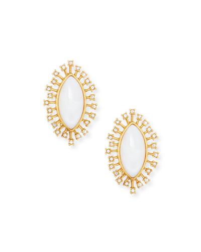 Mother-of-Pearl Burst Stud Earrings