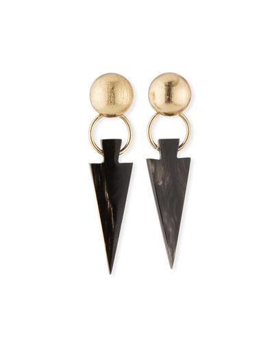 Black Horn Arrow Earrings