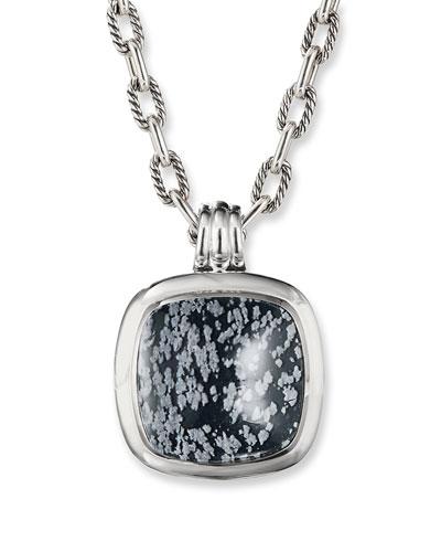 27mm Albion Pendant Enhancer, Obsidian