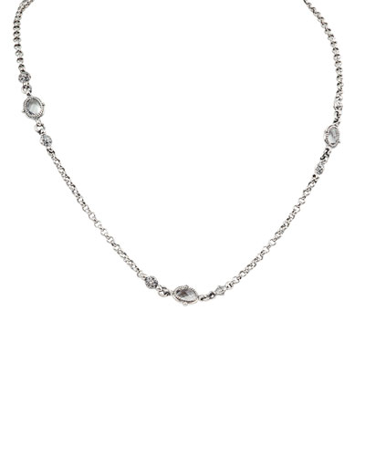 Pythia Double-Strand Crystal Eyeglass Necklace