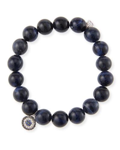 14k Sodalite & Concentric Eye Bracelet