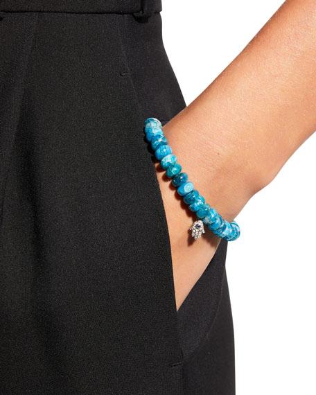 Sydney Evan 14k Apatite Bead & Hamsa Bracelet