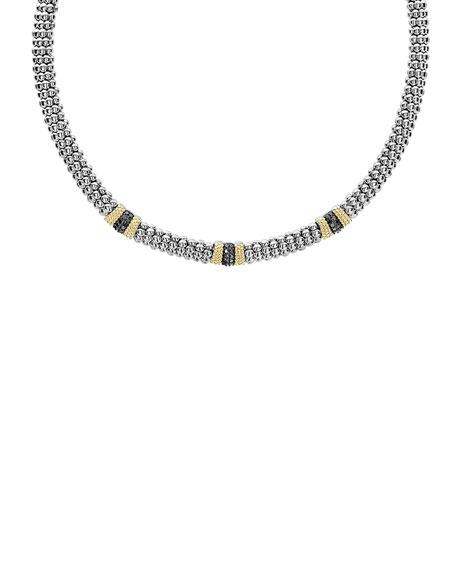 LAGOS Triple Station Black Diamond Lux Necklace