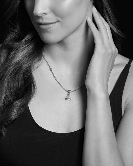 LAGOS KSL Lux Diamond Silver & 18k Gold Pyramid Pendant Necklace