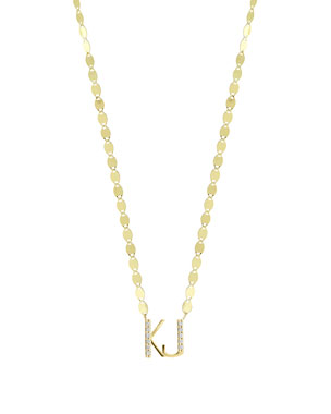 lana gold personalized two letter pendant necklace w diamonds