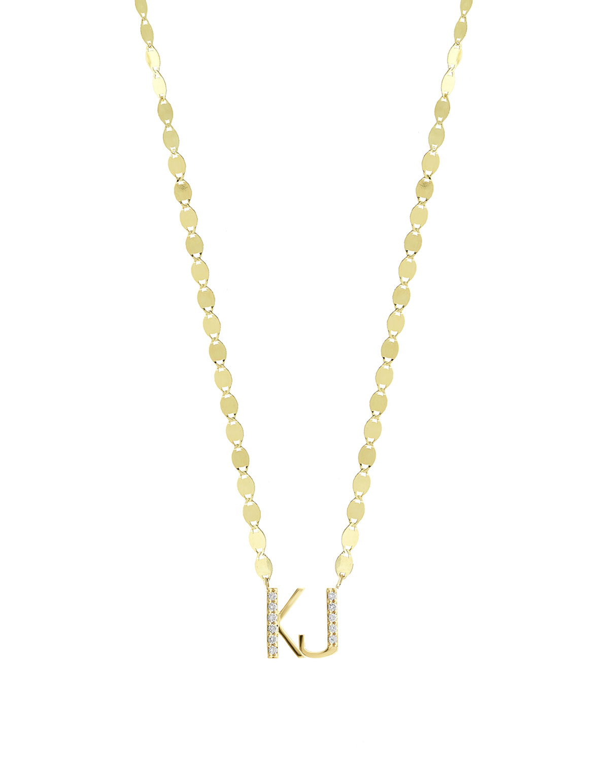 Lana Gold Personalized Two Letter Pendant Necklace w/ Diamonds