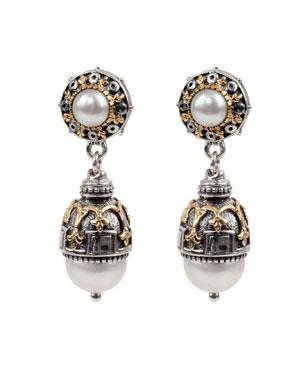 795b851c210 Konstantino Thalia Double-Pearl Drop Earrings