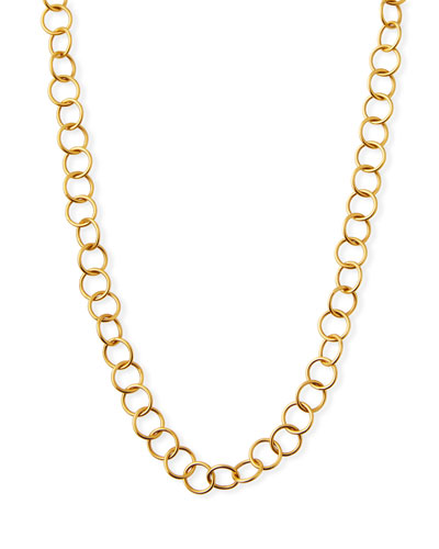 Light Circle Chain Necklace, 36