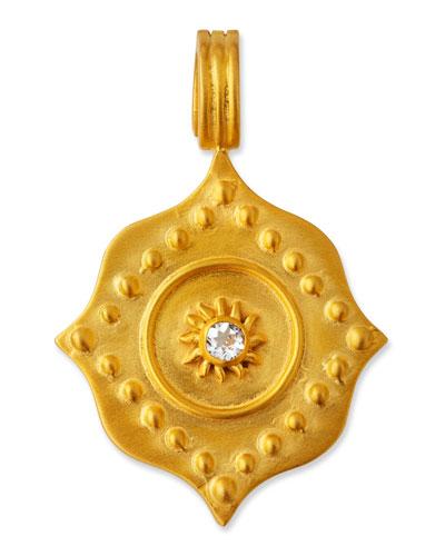 White Topaz Lotus Pendant