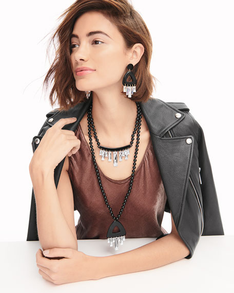 NEST Jewelry Crystal Drop Statement Choker Necklace   Neiman Marcus