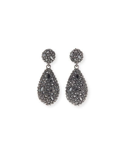 Crystal Encrusted Dangle Post Earrings
