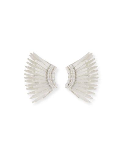 Madeline Mini Matte Earrings, White