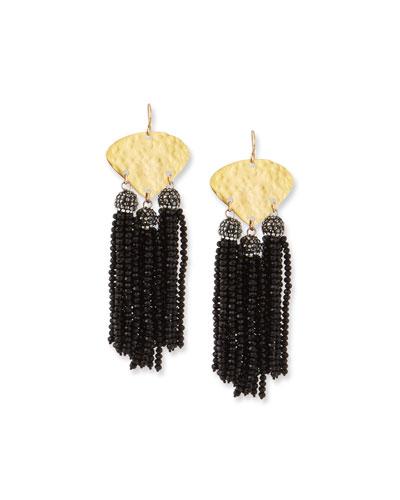 Seed Bead Triple Drop Earrings