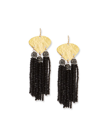 Devon Leigh Seed Bead Triple Drop Earrings