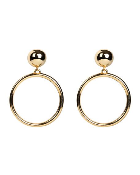 Ben-Amun Hoop Drop Clip-On Earrings
