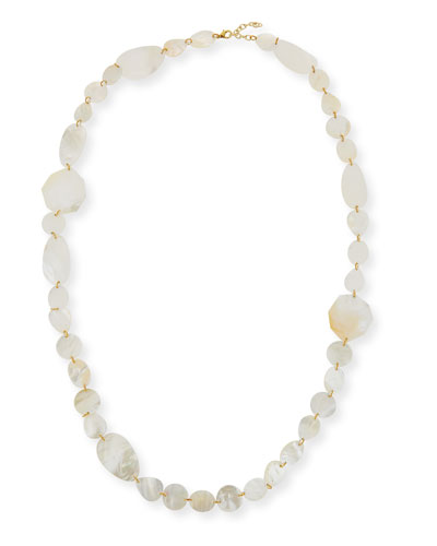 Single-Strand Mother-of-Pearl Necklace