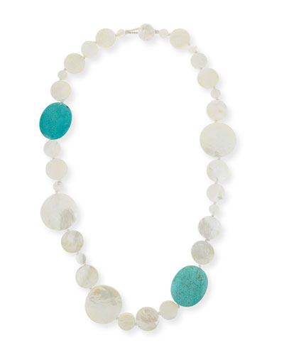 Mother-of-Pearl & Turquoise Necklace