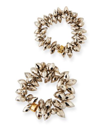 Pyrite Bead Stretch Bracelet