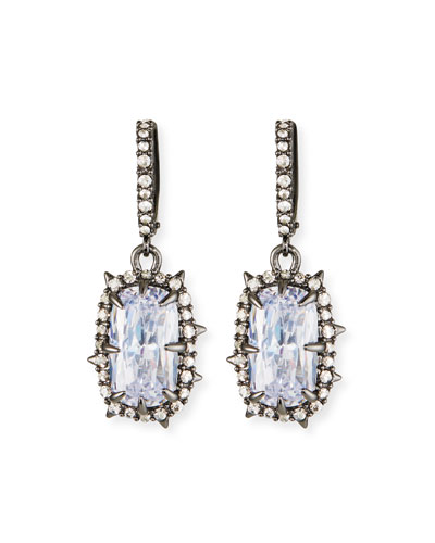 Crystal Framed Cushion Earrings