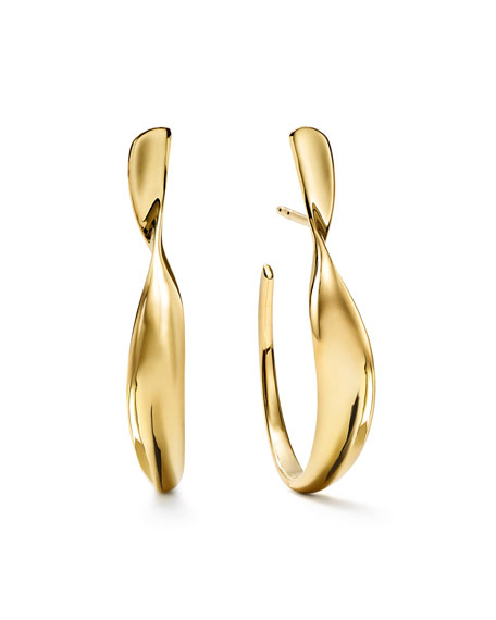 Ippolita 18k Classico Small Twisted Ribbon Hoop Earrings