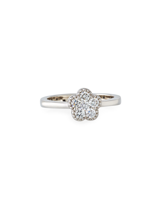 Roberto Coin 18k White Gold Diamond Flower Ring Neiman Marcus