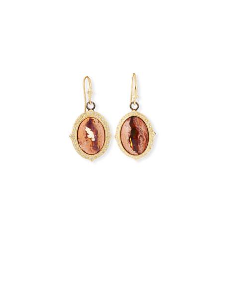Armenta Old World Mexican Fire Opal Dangle Earrings
