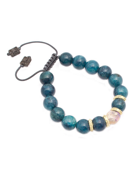Armenta Old World Apatite & Opal Bead Pull-Through