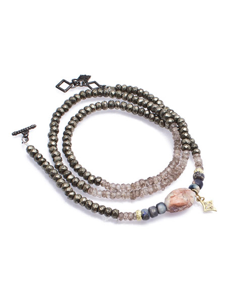 Armenta Old World Triple-Wrap Pyrite, Zircon & Boulder