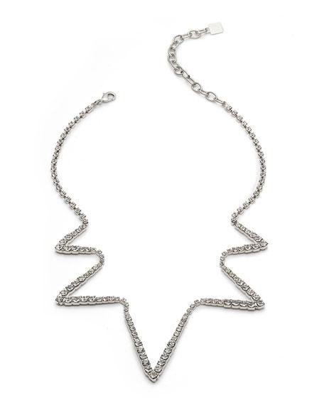 Dannijo Lotus Crystal Zigzag Necklace