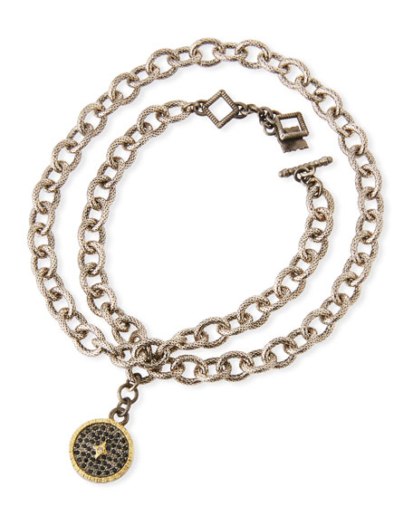 Armenta OLD WORLD CHAIN-WRAP DIAMOND DISC BRACELET