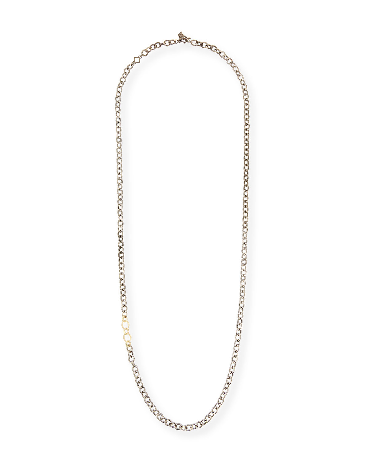 "Armenta Old World Thick Circle-Link Necklace, 32""L"
