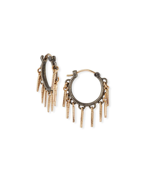 Armenta New World Small Dagger Huggie Hoop Earrings