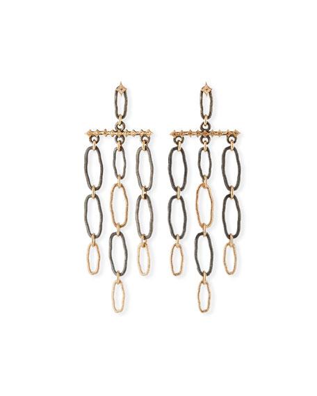 Armenta New World Oval-Link Dangle Earrings