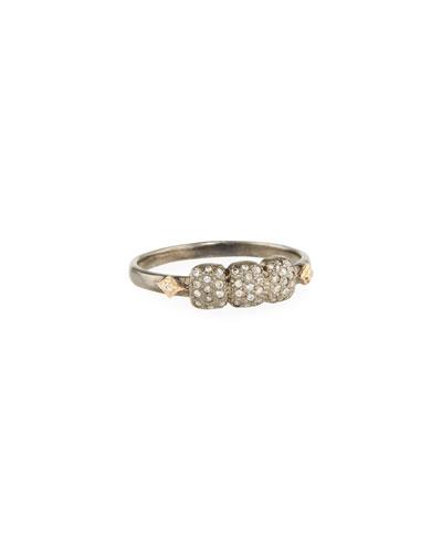 New World Diamond Cushion & Crivelli Ring