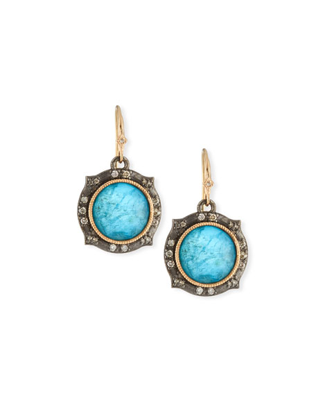 Armenta New World Apatite/Quartz Doublet Drop Earrings