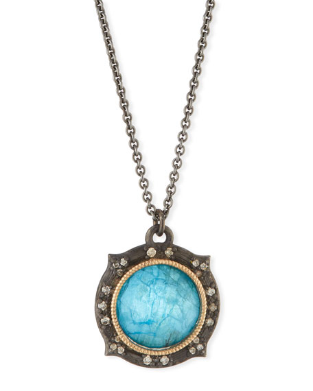 Armenta New World Apatite/Quartz Doublet Pendant Necklace
