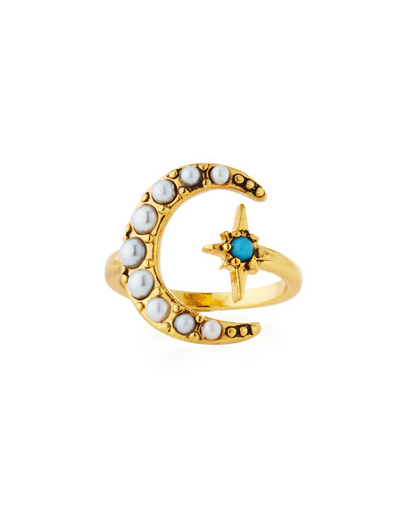 Lulu Frost Tribute Moon & Starburst Ring