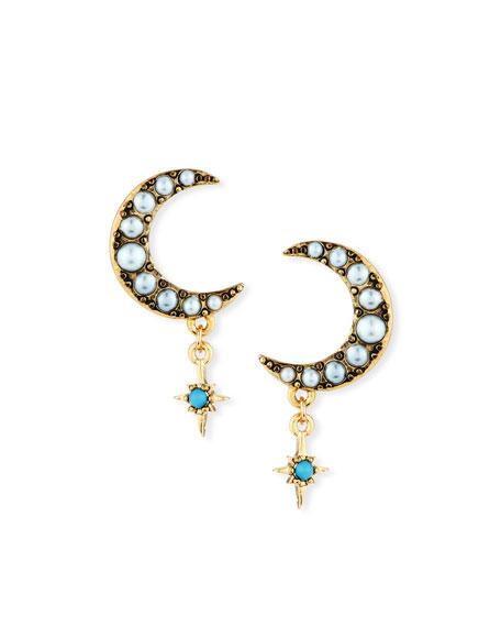 Lulu Frost Tribute Half-Moon Stud Earrings