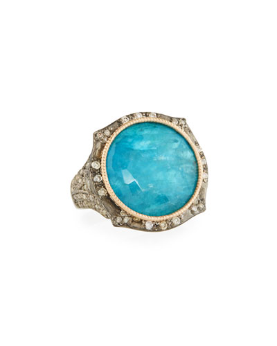 New World Two Tone Apatite Doublet Ring