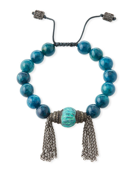Armenta New World Apatite & Tassel Pull-Through Beaded