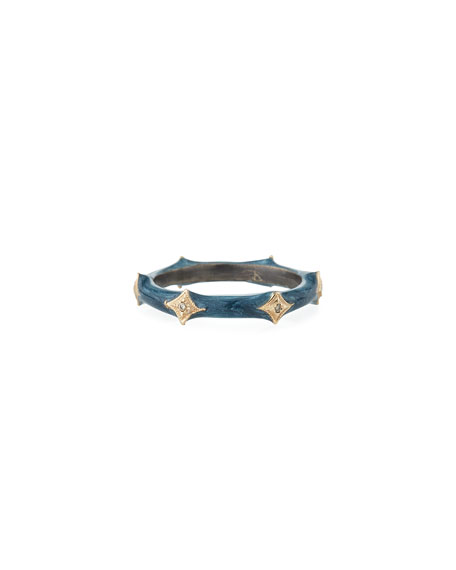 Armenta New World Enamel & Crivelli Band Ring,