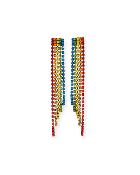 Auden Rainbow Crystal Fringe Earrings