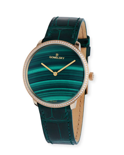 The Audrey Malachite Dial 36mm Watch