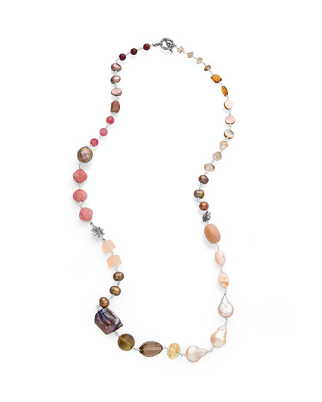 Stephen Dweck Mixed-Stone & Multi-Pearl Necklace