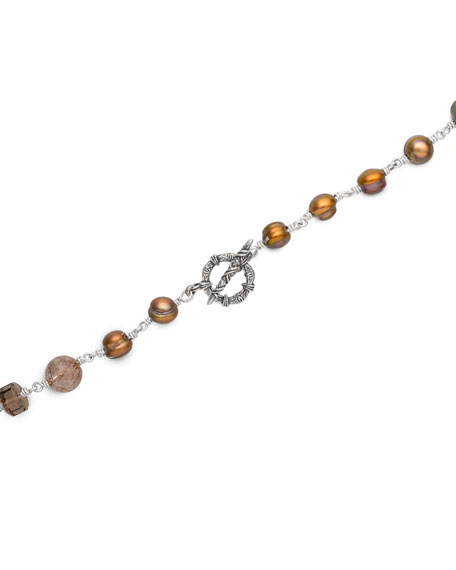 Stephen Dweck Multi-Stone & Mixed-Pearl Necklace
